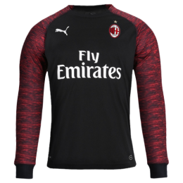 18-19 AC Milan Third Away Red&Black Long Sleeve Jersey Shirt