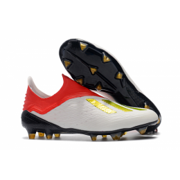 AD X 18+ FG Soccer Cleats-White&Red