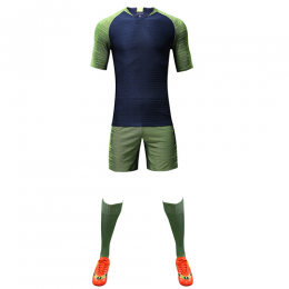 Customize Team Green Player Version Soccer Jerseys Whole Kit(Shirt+Short+Socks)