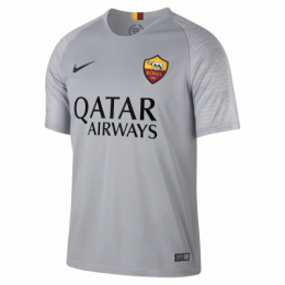 18-19 Roma Away Gray Soccer Jersey Shirt