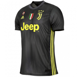 18-19 Juventus Third Away Black Soccer Jersey Shirt