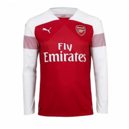 18-19 Arsenal Home Long Sleeve Soccer Jersey Shirt