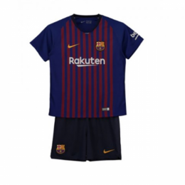 18-19 Barcelona Home Children's Jersey Kit(Shirt+Short)