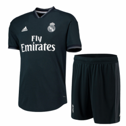 18-19 Real Madrid Away Deep Green Soccer Jersey(Shirt+Short)