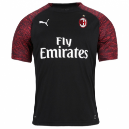 18-19 AC Milan Third Away Black Soccer Jersey Shirt