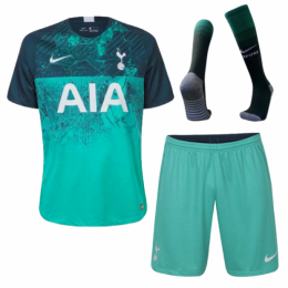 18-19 Tottenham Hotspur Third Away Green Jersey Whole Kit(Shirt+Short+Socks),