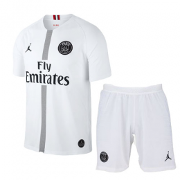 18-19 PSG JORDAN 3rd Away Black Soccer Jersey Kit(Shirt+Short),
