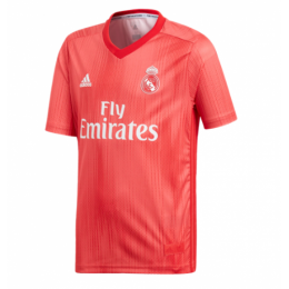 18-19 Real Madrid Third Away Red Soccer Jersey(Shirt+Short)
