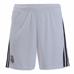 18-19 Real Madrid Home White Soccer Jersey Short,