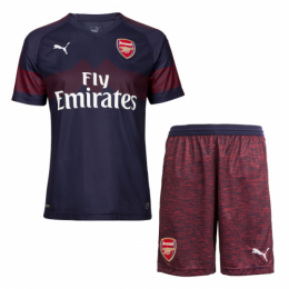 18-19 Arsenal Away Navy Soccer Jersey Kit(Shirt+Short)