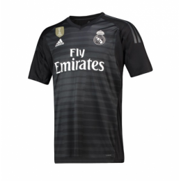 18-19 Real Madrid Goalkeeper Black Jersey Shirt