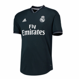 18-19 Real Madrid Away Dark Navy Soccer Jersey Shirt(Player Version)