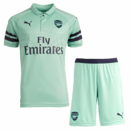 18-19 Arsenal Third Away Green Soccer Jersey Kit(Shirt+Short),
