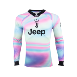 18-19 Juventus EA Sports White Long Sleeve Jerseys Shirt