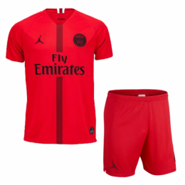 18-19 PSG JORDAN Goalkeeper Red Soccer Jersey Kit(Shirt+Short)
