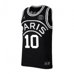 PSG×JORDAN Neymar Jr #10 Black Basketball Jersey Shirt