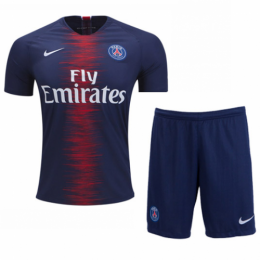 18-19 PSG Home Soccer Jersey Kit(Shirt+Short),