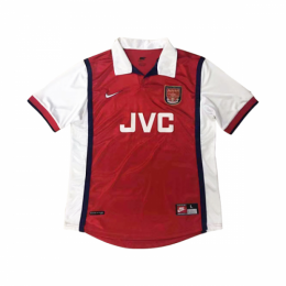 1998 Arsenal Retro Home Red&White Soccer Jersey Shirt
