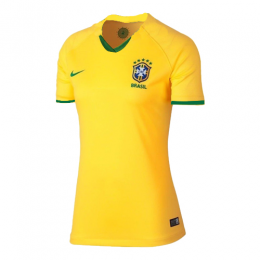 2019 World Cup Brazil Home Yellow Women's Jerseys Shirt