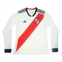 18-19 River Plate Home White Long Sleeve Jerseys Shirt