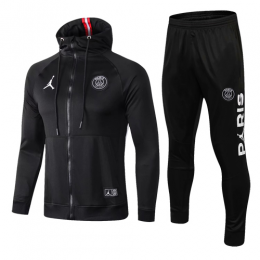 18-19 PSG Black Hoody Training Kit(Jacket+Trouser)