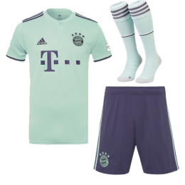 18-19 Bayern Munich Away Soccer Jersey Whole Kit(Shirt+Short+Socks)