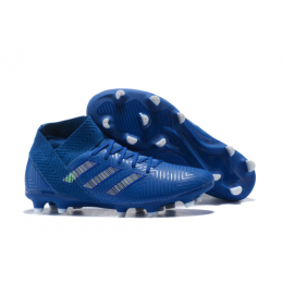 AD X NEMEZIZ 18.1 FG Soccer Cleats-Blue	