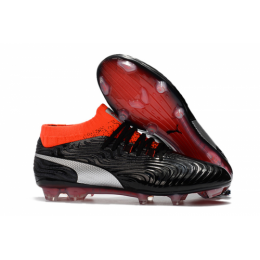PM One 18.1 Syn FG Soccer Cleats-Black&Orange