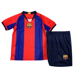 669a2f02711 2019 Barcelona Special-Edition For El Clasico Home Children's Jerseys Kit( Shirt+Short)