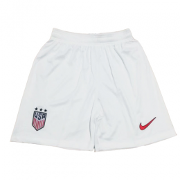 2019 World Cup USA Home White Women's Jerseys Short