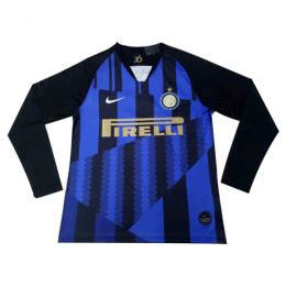 18-19 Inter Milan 20th Anniversary Home Long Sleeve Jerseys Shirt