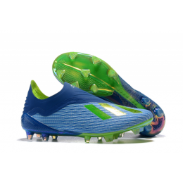 AD X 18+ FG Soccer Cleats-Blue&Green