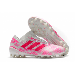 AD X Nemeziz Messi 18.1 AG Soccer Cleats-Pink&White,