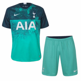 18-19 Tottenham Hotspur Third Away Green Jersey Kit(Shirt+Short),