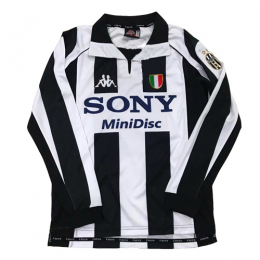 97-98 Juventus Home Black&White Long Sleeve Retro Jerseys Shirt