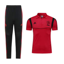 19-20 Manchester United Red Polo Shirt Kit(Top+Trouser)