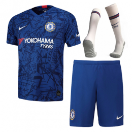 19-20 Chelsea Home Blue Soccer Jerseys Kit(Shirt+Short+Socks),