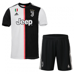 19-20 Juventus Home Black&White Soccer Jerseys Kit(Shirt+Short),
