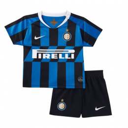 19-20 Inter Milan Home Blue&Black Children's Jerseys Kit(Shirt+Short)