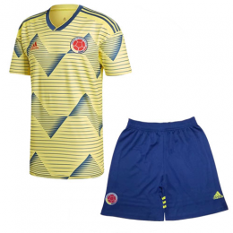 2019 Colombia Home Yellow Soccer Jerseys Kit(Shirt+Short)