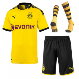 19-20 Borussia Dortmund Home Yellow Soccer Jerseys Whole Kit(Shirt+Short+Socks),