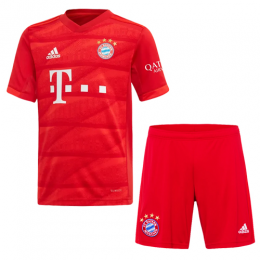 19-20 Bayern Munich Home Red Jerseys Kit(Shirt+Short),