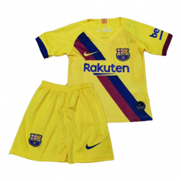 19-20 Barcelona Away Yellow Children's Jerseys Kit(Shirt+Short)
