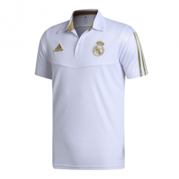 19/20 Real Madrid Core Polo Shirt-White