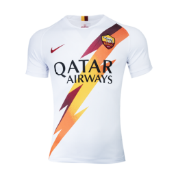 19-20 Roma Away White Soccer Jerseys Shirt(Player Version)