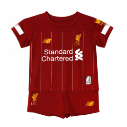19-20 Liverpool Home Red Children's Jerseys Kit(Shirt+Short)