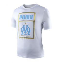 19-20 Marseille Logo T Shirt-White