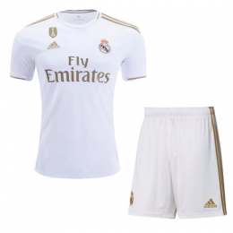 19-20 Real Madrid Home White Soccer Jerseys Kit(Shirt+Short),