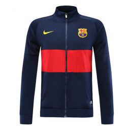 19-20 Barcelona Navy&Red High Neck Collar Training Jacket,
