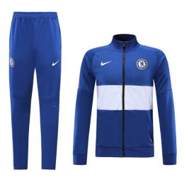 19-20 Chelsea Blue&White High Neck Collar Training Kit(Jacket+Trouser)